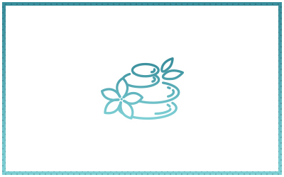 Animated stack of rocks and flowers icon