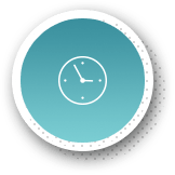 Blue highlighted animated wall clock