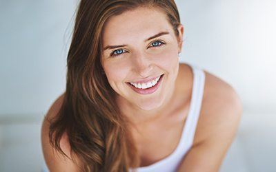 Woman with beautiful healthy smile