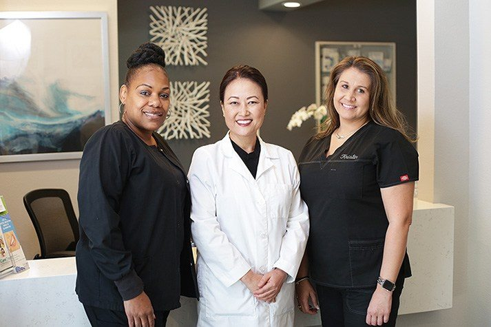 Dr. Rana Lee and our team members Kristin and Leslie